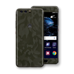 Huawei P10+ PLUS Luxuria Green Camo Camouflage 3D Textured Skin Wrap Decal Protector | EasySki