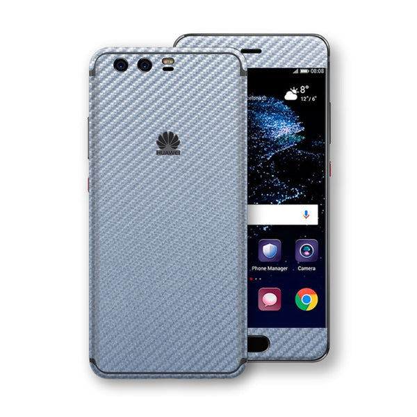 Huawei P10+ PLUS 3D Textured Arctic Blue Carbon Fibre Fiber Skin, Decal, Wrap, Protector, Cover by EasySkinz | EasySkinz.com