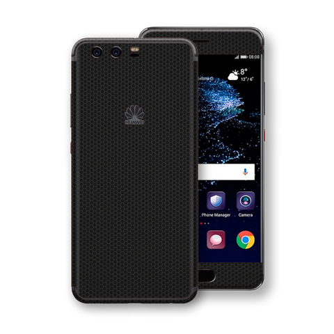 Huawei P10+ PLUS Black Matrix Textured Skin Wrap Decal 3M by EasySkinz