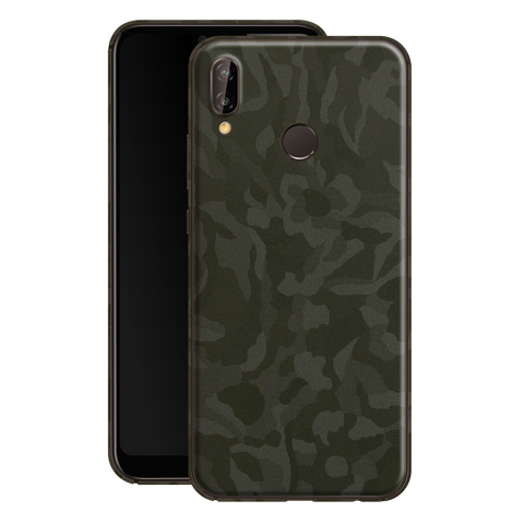 Huawei P20 LITE Luxuria GREEN 3D TEXTURED CAMO Skin Wrap Decal Protector | EasySkin