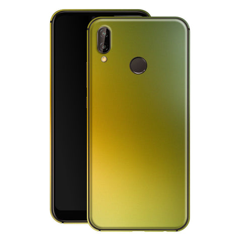 Huawei P20 LITE Chameleon NEPHRITE-GOLD Colour-Changing Skin, Decal, Wrap, Protector, Cover by EasySkinz | EasySkinz.com