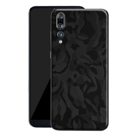 Huawei P20 PRO Luxuria BLACK 3D TEXTURED CAMO Skin Wrap Decal Protector | EasySkin