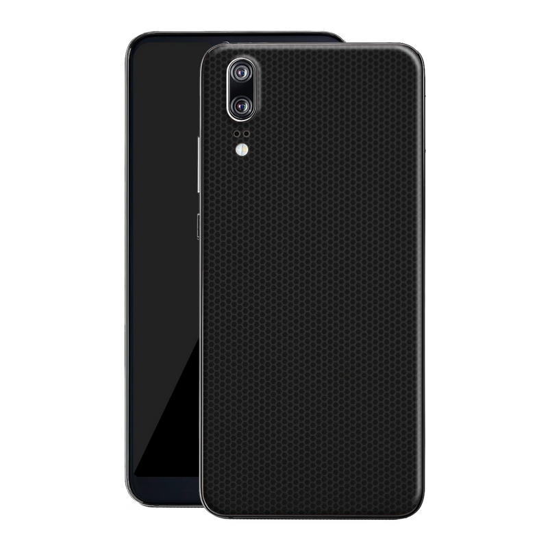 Huawei P20 Black Matrix Textured Skin Wrap Decal 3M by EasySkinz
