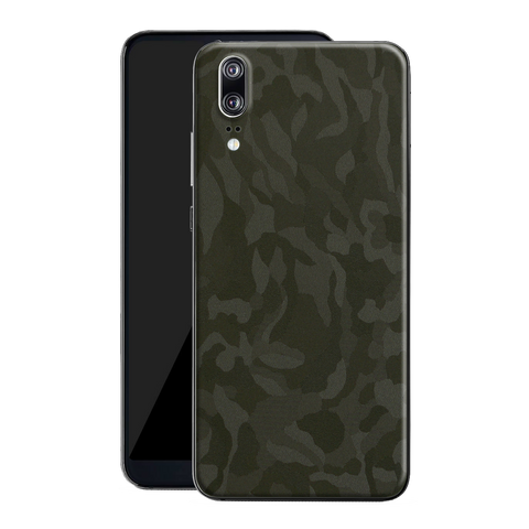 Huawei P20 Luxuria GREEN 3D TEXTURED CAMO Skin Wrap Decal Protector | EasySkin