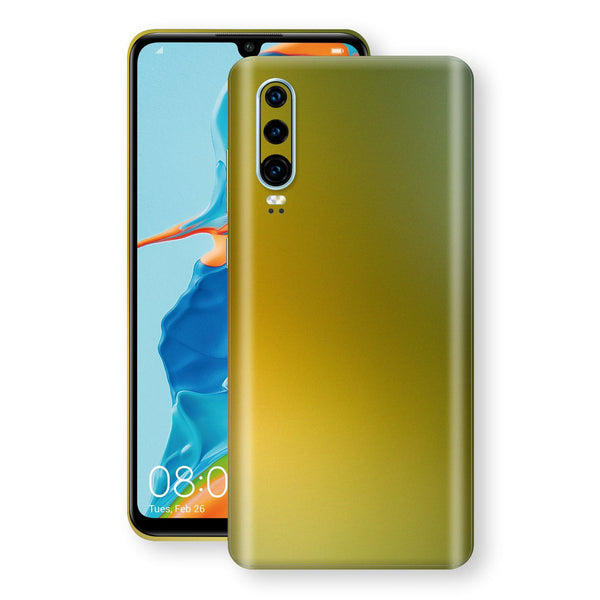 Huawei P30 Chameleon NEPHRITE-GOLD Skin Wrap Decal Cover by EasySkinz