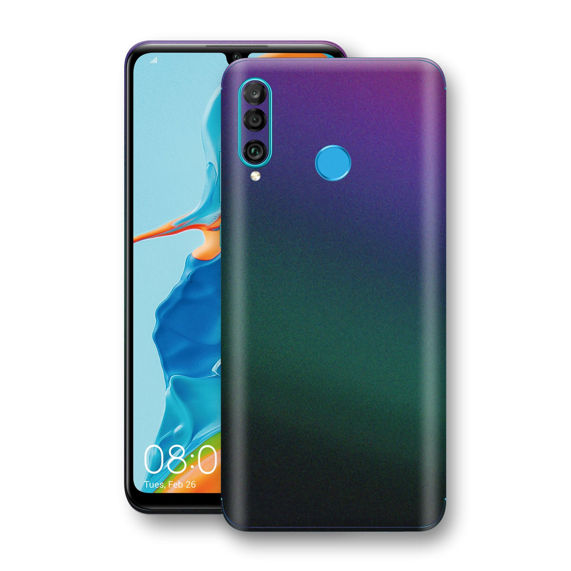 Huawei P30 LITE Chameleon DARK OPAL Skin Wrap Decal Cover by EasySkinz