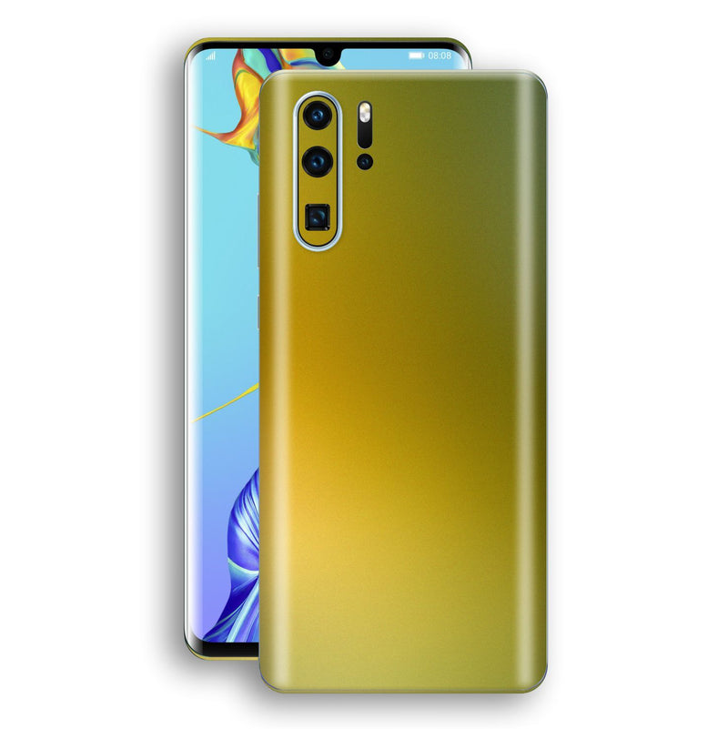 Huawei P30 PRO Chameleon NEPHRITE-GOLD Skin Wrap Decal Cover by EasySkinz