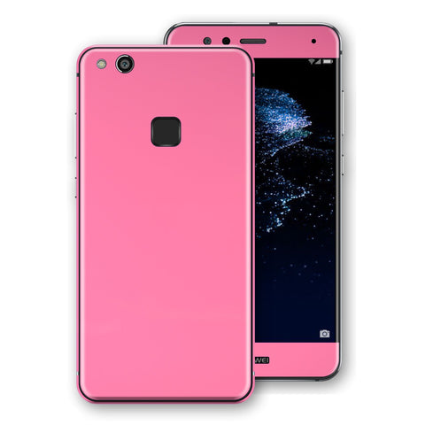 Huawei P10 LITE Hot Pink Glossy Gloss Finish Skin, Decal, Wrap, Protector, Cover by EasySkinz | EasySkinz.com