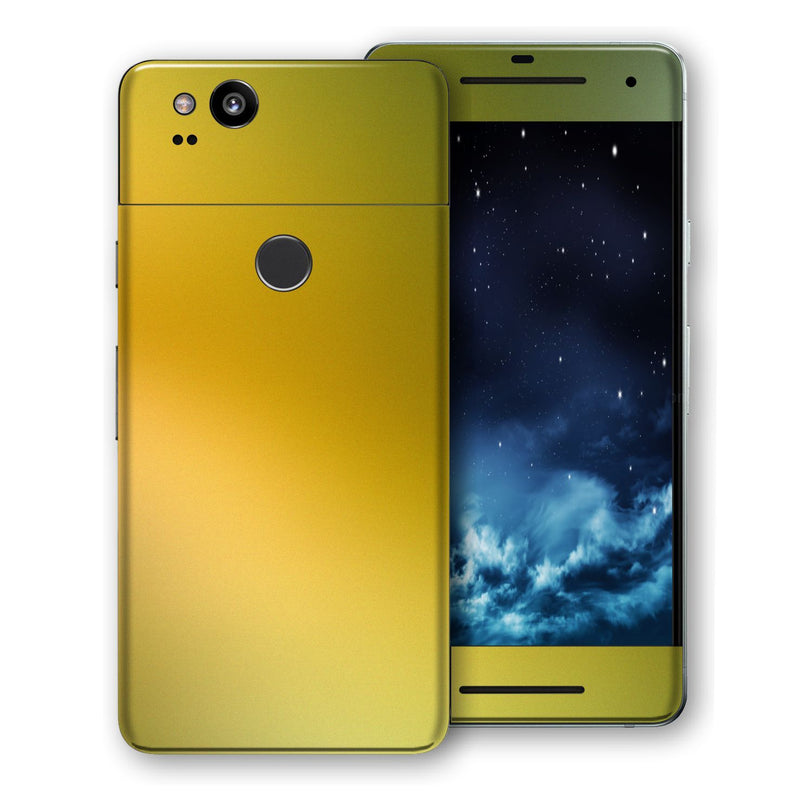 Google Pixel 2 Chameleon NEPHRITE-GOLD Colour-Changing Skin, Decal, Wrap, Protector, Cover by EasySkinz | EasySkinz.com