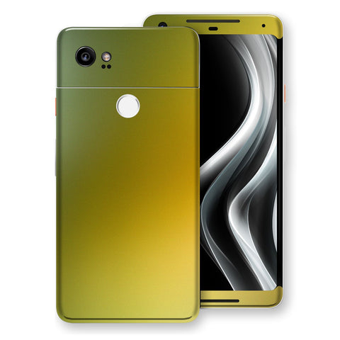 Google Pixel 2 XL Chameleon NEPHRITE-GOLD Colour-Changing Skin, Decal, Wrap, Protector, Cover by EasySkinz | EasySkinz.com