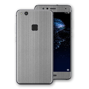 Huawei P10 LITE Premium Brushed STEEL Metallic Metal Skin, Decal, Wrap, Protector, Cover by EasySkinz | EasySkinz.com