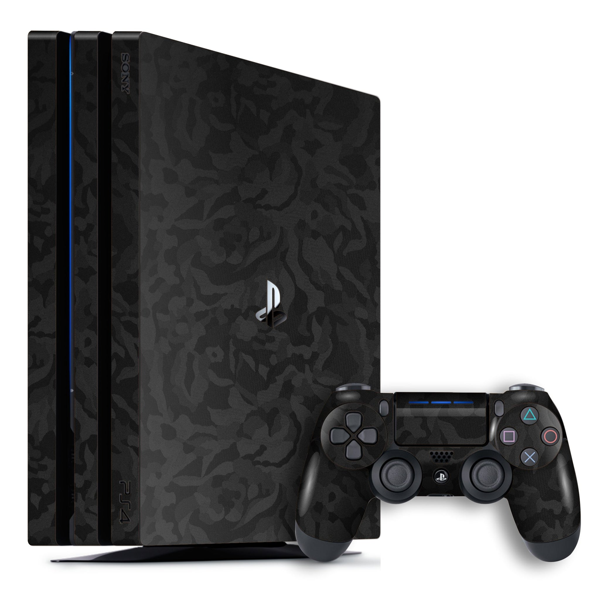 Playstation 4 PRO PS4 PRO Luxuria Black 3D Textured Camo Camouflage Skin Wrap Decal Protector | EasySkinz