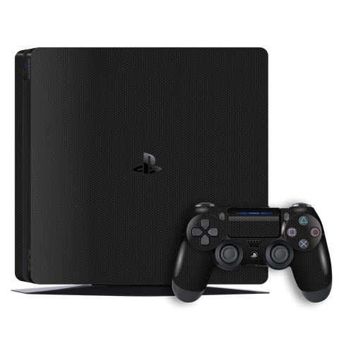 Playstation 4 SLIM PS4 SLIM Black Matrix Textured Skin Wrap Decal 3M by EasySkinz