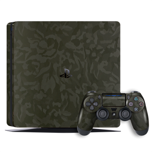 Playstation 4 SLIM PS4 Luxuria Green 3D Textured Camo Camouflage Skin Wrap Decal Protector | EasySkinz