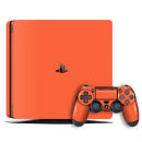 Playstation 4 SLIM PS4 Slim CORAL Gloss Glossy Skin Wrap Decal by EasySkinz