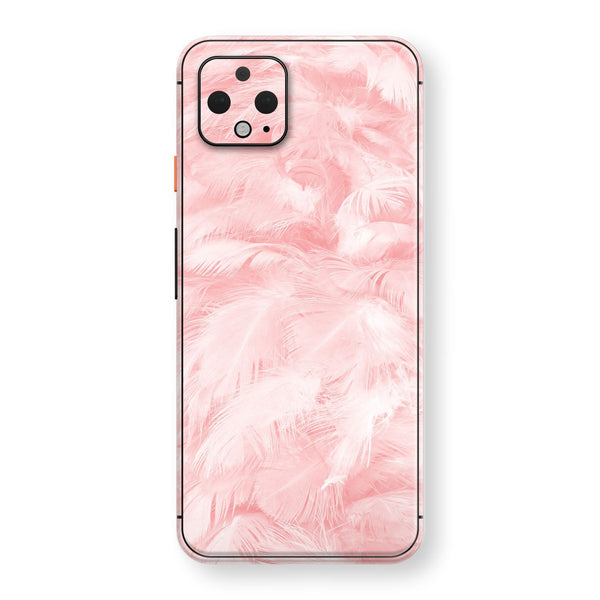 Google Pixel 4 XL Print Custom SIGNATURE Pink FEATHER Skin, Wrap, Decal, Protector, Cover by EasySkinz | EasySkinz.com