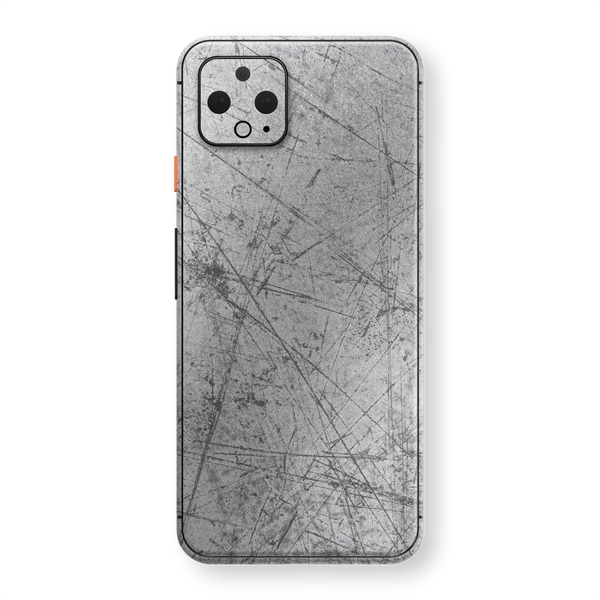 Google Pixel 4 XL Print Printed Custom SIGNATURE  Aluminium Scratched Plate Skin, Wrap, Decal, Protector, Cover by EasySkinz | EasySkinz.com