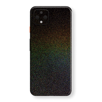Google Pixel 4 XL Glossy GALAXY Black Milky Way Rainbow Sparkling Metallic Skin Wrap Sticker Decal Cover Protector by EasySkinz