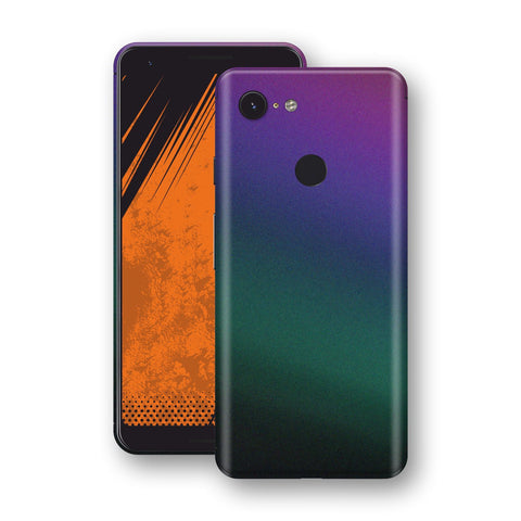 Google Pixel 3a Chameleon DARK OPAL Skin Wrap Decal Cover by EasySkinz