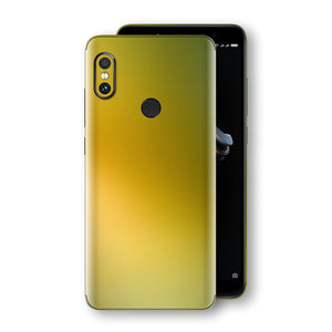 XIAOMI Redmi NOTE 5 Chameleon NEPHRITE-GOLD Skin Wrap Decal Cover by EasySkinz