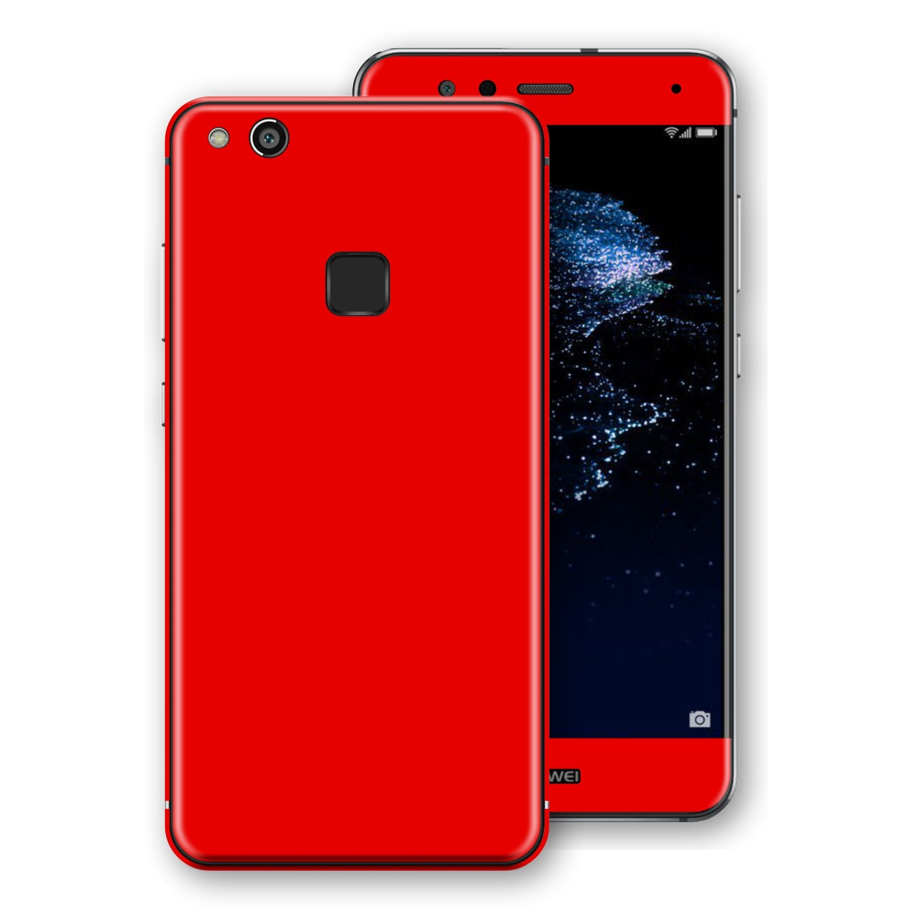 Huawei P10 LITE Bright Red Glossy Gloss Finish Skin, Decal, Wrap, Protector, Cover by EasySkinz | EasySkinz.com