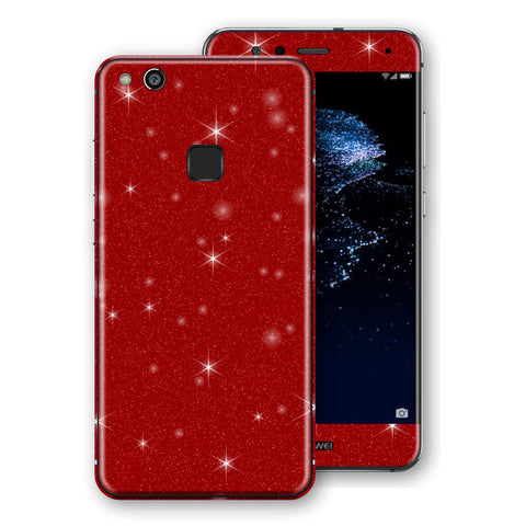 Huawei P10 LITE Diamond Red Shimmering, Sparkling, Glitter Skin, Decal, Wrap, Protector, Cover by EasySkinz | EasySkinz.com