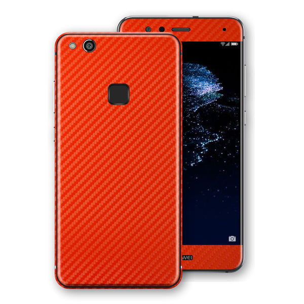Huawei P10 LITE 3D Textured Red Carbon Fibre Fiber Skin, Decal, Wrap, Protector, Cover by EasySkinz | EasySkinz.com