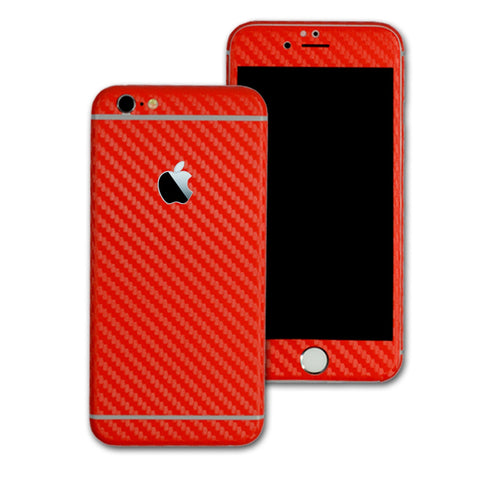 iPhone 6S Red CARBON Fibre Skin Wrap Protector Cover Decal Sticker by EasySkinz