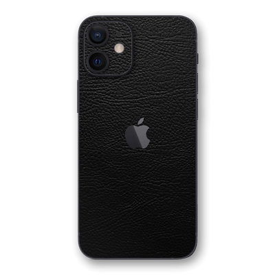 iPhone 12 mini Luxuria Riders Black Leather Jacket 3D Textured Skin Wrap Decal Cover Protector by EasySkinz | EasySkinz.com