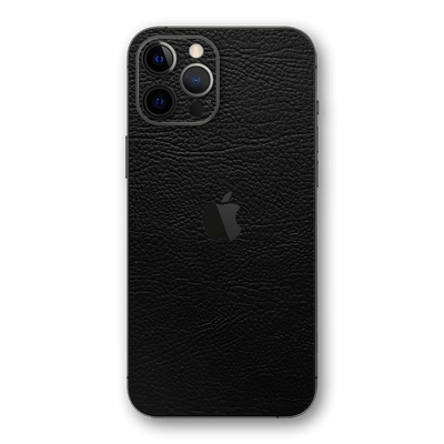 iPhone 12 PRO Luxuria Riders Black Leather Jacket 3D Textured Skin Wrap Decal Cover Protector by EasySkinz | EasySkinz.com