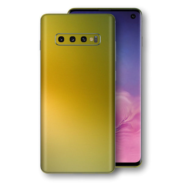 Samsung Galaxy S10 Chameleon NEPHRITE-GOLD Skin Wrap Decal Cover by EasySkinz