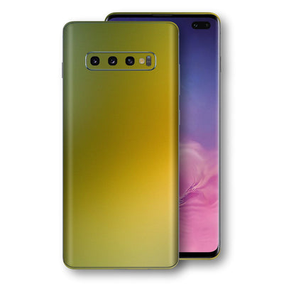 Samsung Galaxy S10+ PLUS Chameleon NEPHRITE-GOLD Skin Wrap Decal Cover by EasySkinz