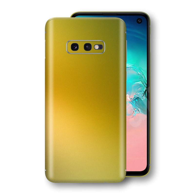 Samsung Galaxy S10e Chameleon NEPHRITE-GOLD Skin Wrap Decal Cover by EasySkinz