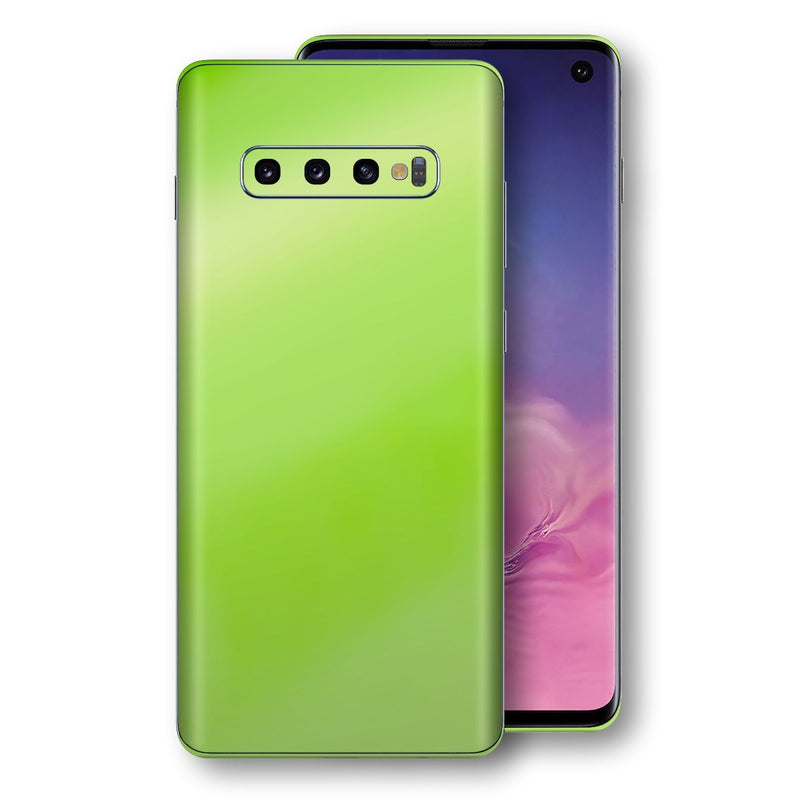 Samsung Galaxy S10 Apple Green Pearl Gloss Finish Skin Wrap Decal Cover by EasySkinz