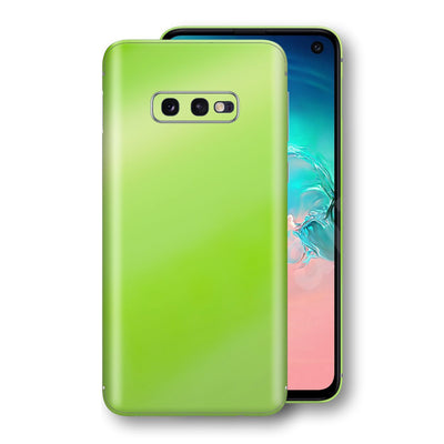 Samsung Galaxy S10e Apple Green Pearl Gloss Finish Skin Wrap Decal Cover by EasySkinz