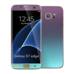 Samsung Galaxy S7 EDGE Chameleon Turquoise Lavender Matt Metallic Skin Wrap Decal Cover by EASYSKINZ