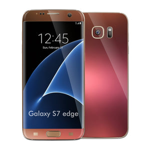 Samsung Galaxy S7 EDGE Chameleon Aubergine Bronze Matt Metallic Skin Wrap Decal Cover by EASYSKINZ