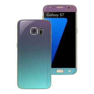 Samsung Galaxy S7 Chameleon Turquoise Lavender Matt Metallic Skin Wrap Decal Sticker Cover Protector by EasySkinz