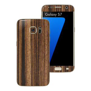 Samsung Galaxy S7 Luxuria Zebrano Wood Wooden Skin Wrap Decal Cover by EASYSKINZ