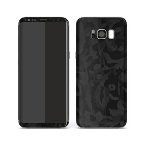 Samsung Galaxy S8+ PLUS Luxuria Black 3D Textured Camo Camouflage Skin Wrap Decal Protector | EasySkinz