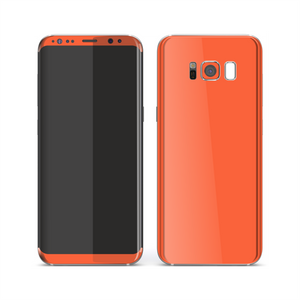 Samsung Galaxy S8 CORAL Gloss Glossy Skin, Decal, Wrap, Protector, Cover by EasySkinz | EasySkinz.com
