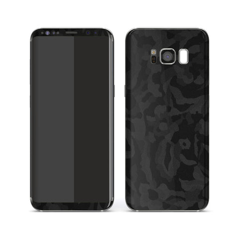 Samsung Galaxy S8 Luxuria Black 3D Textured Camo Camouflage Skin Wrap Decal Protector | EasySkinz