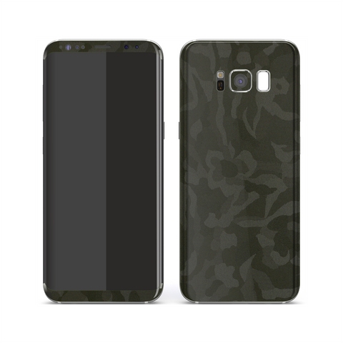 Samsung Galaxy S8 Luxuria Green 3D Textured Camo Camouflage Skin Wrap Decal Protector | EasySkinz