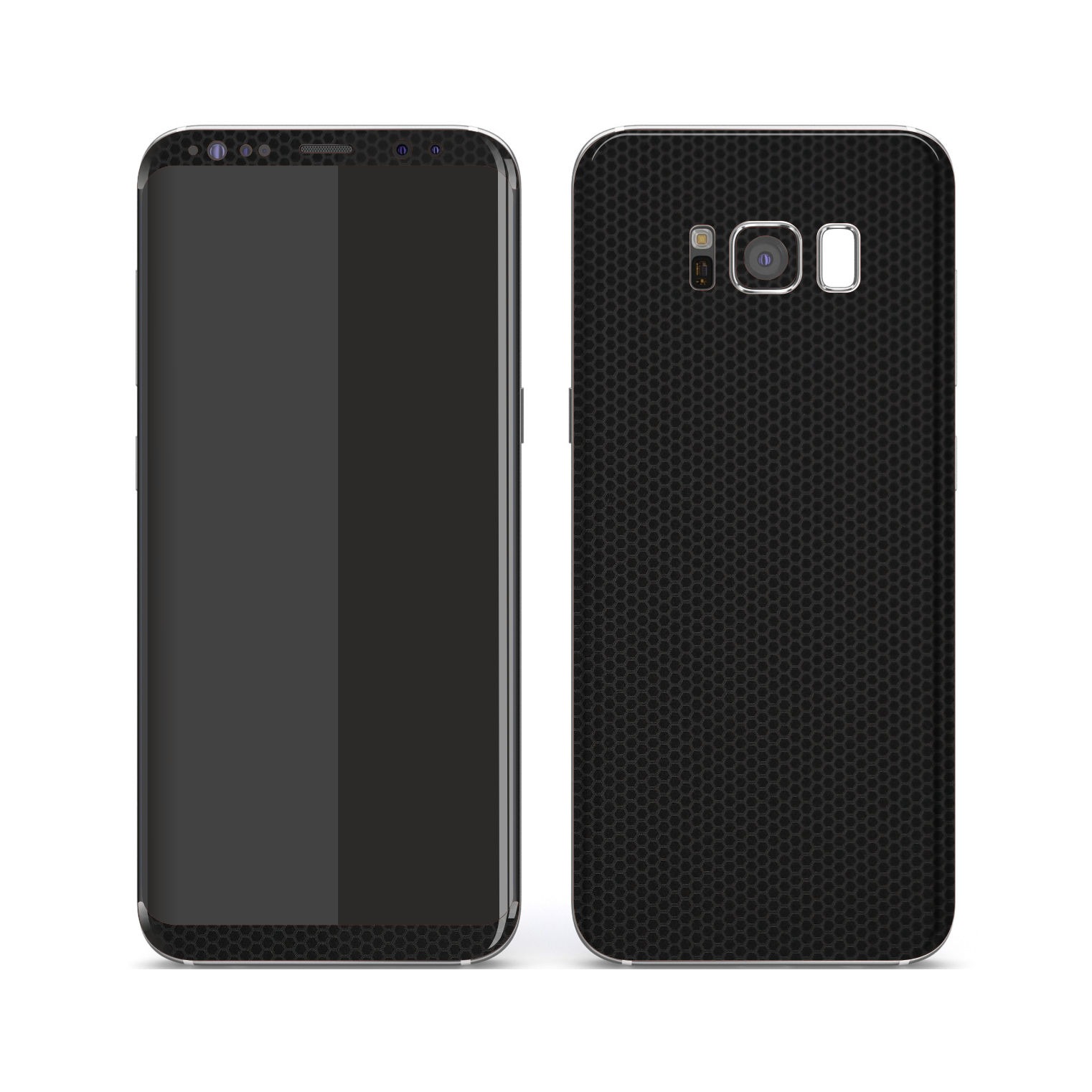 Samsung Galaxy S8 Black Matrix Textured Skin Wrap Decal 3M by EasySkinz