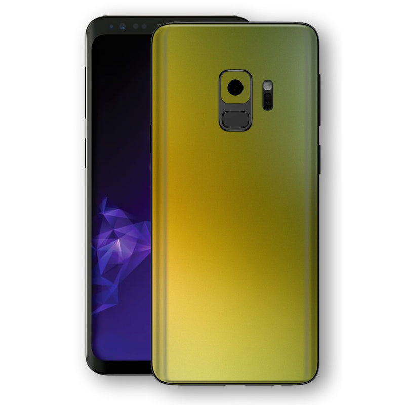 Samsung GALAXY S9 Chameleon NEPHRITE-GOLD Colour-Changing Skin, Decal, Wrap, Protector, Cover by EasySkinz | EasySkinz.com