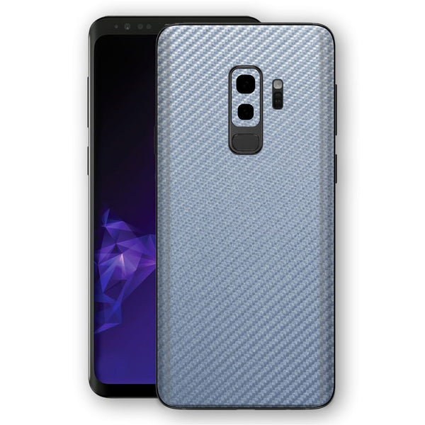 Samsung GALAXY S9+ PLUS 3D Textured Arctic Blue Carbon Fibre Fiber Skin, Decal, Wrap, Protector, Cover by EasySkinz | EasySkinz.com