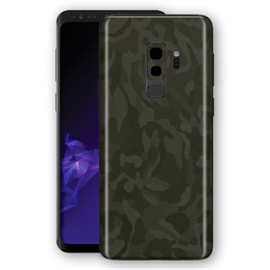 Samsung Galaxy S9+ PLUS Luxuria Green 3D Textured Camo Camouflage Skin Wrap Decal Protector | EasySkinz