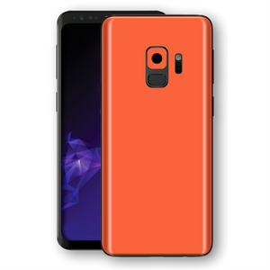Samsung GALAXY S9 CORAL Gloss Glossy Skin, Decal, Wrap, Protector, Cover by EasySkinz | EasySkinz.com