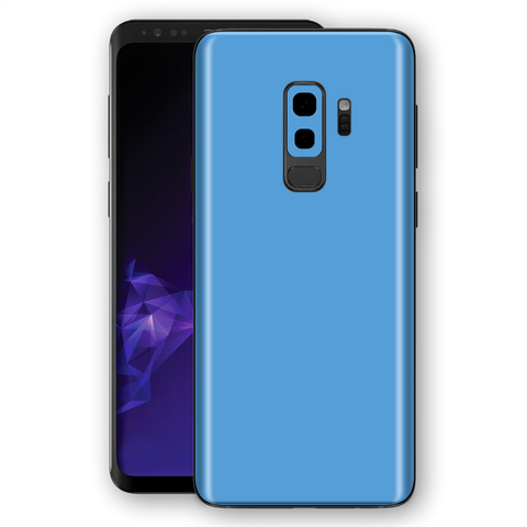 Samsung GALAXY S9+ PLUS SKY BLUE Gloss Glossy Skin, Decal, Wrap, Protector, Cover by EasySkinz | EasySkinz.com
