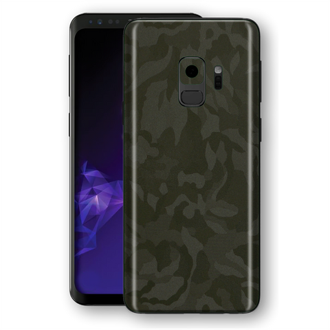 Samsung Galaxy S9 Luxuria Green 3D Textured Camo Camouflage Skin Wrap Decal Protector | EasySkinz